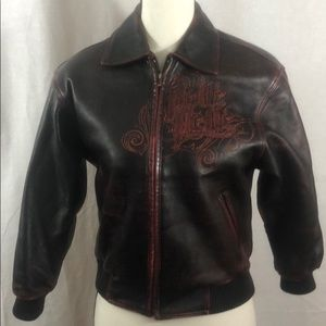 Pelle Pelle Jacket in red distressed leather